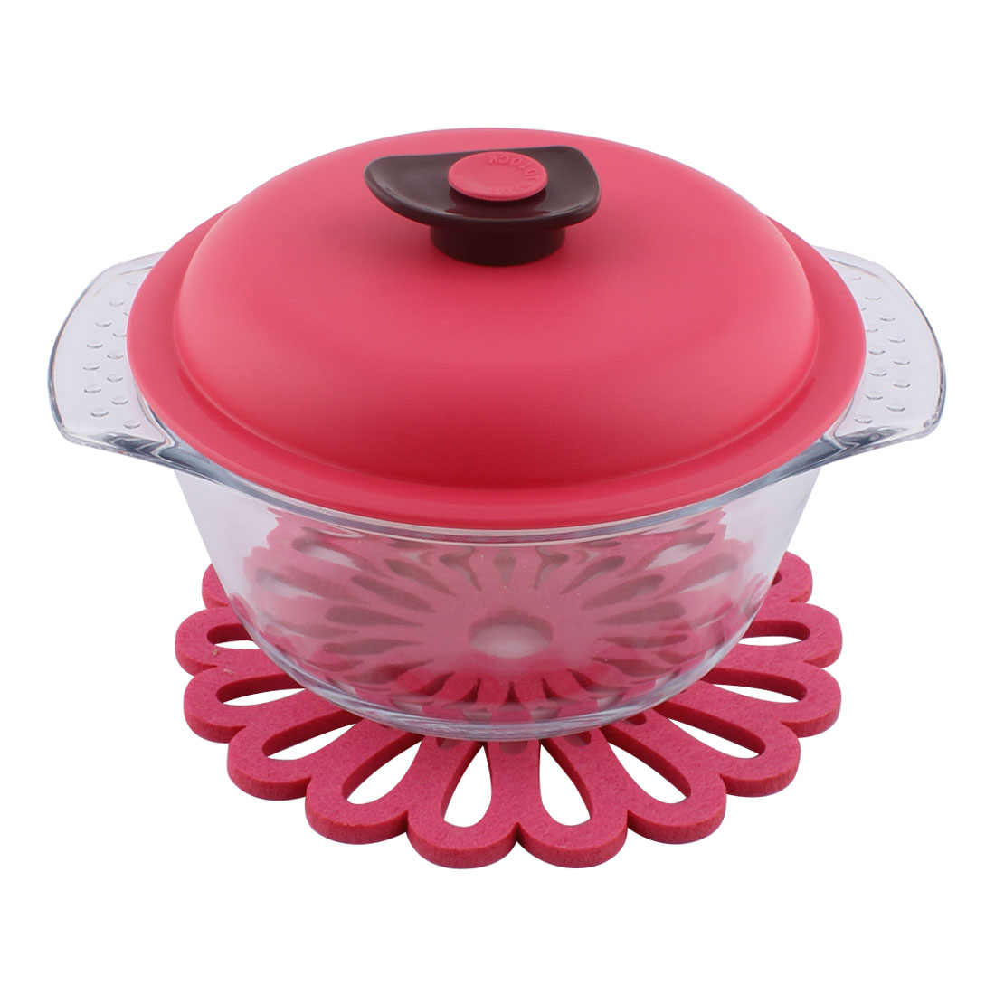 Household Kitchenware Glass Sealing Lid Enclosed Stockpot Saucepan Stock Pot Set