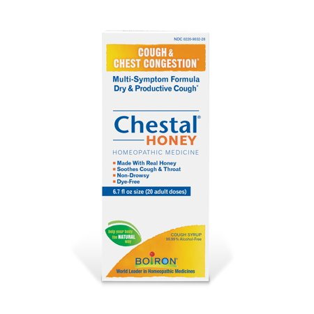 Boiron Chestal Adult Honey Cough & Chest Congestion Relief, 6.7 Fl Oz