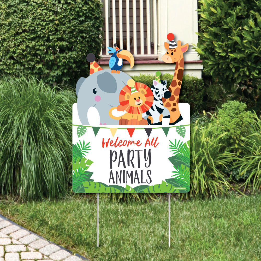 Jungle Party Animals Party Decorations Safari Zoo Animal