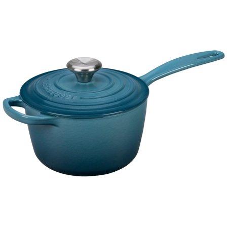 Le Creuset Enameled Cast Iron Saucepan - 1.75 Qt Marine Blue Le Creuset Apple