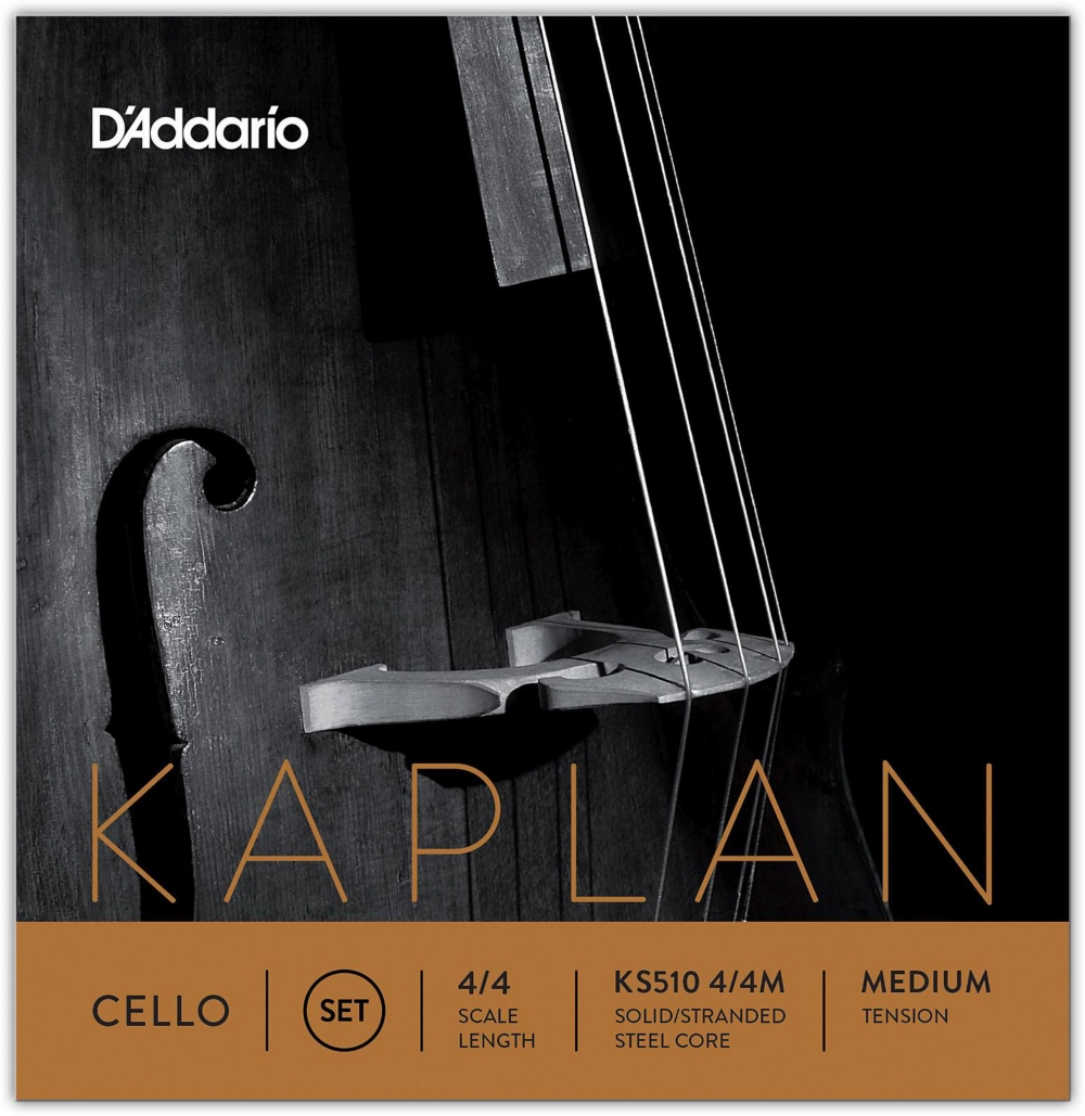 Kaplan 4 4 Size Cello Strings 4 4 Size Medium by D'Addario
