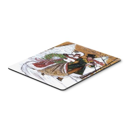 - Couple Skating Winter Scene Mouse Pad, Hot Pad or Trivet