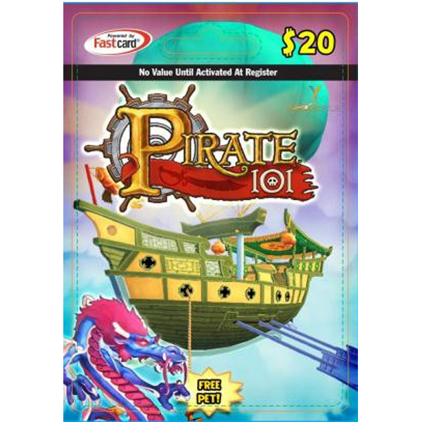 KingsIsle Pirates101 $20 Card
