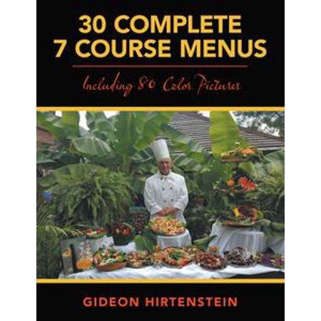 Halloween 3 Course Menu (30 Complete 7 Course Menus -)