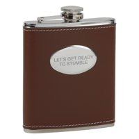 Ready to Stumble Brown Flask