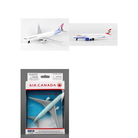 Hawaiian  British Airways  Air Canada Airlines Diecast Airplane Package   Three 5 5   Diecast Model Planes