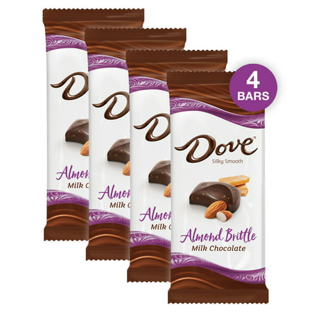 (4 pack) Dove Bar Milk Chocolate Almond Brittle Candy Bar, 3.30 Oz Bounty Milk Chocolate Bar