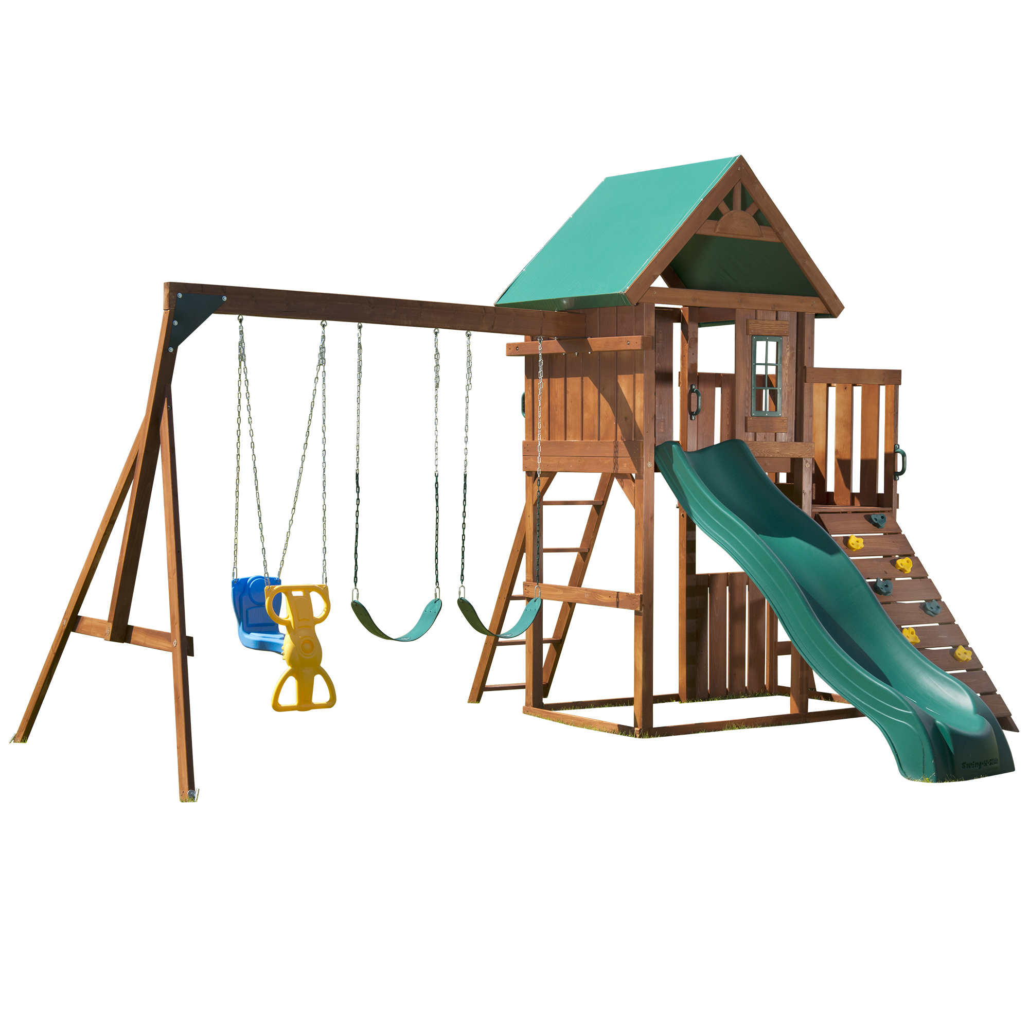 Willows Peak Wood Complete Swing Set