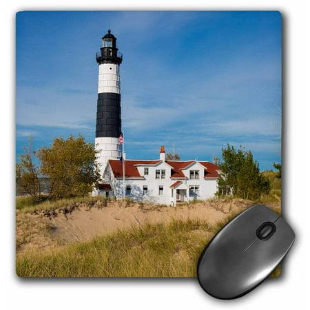 3dRose Big Sable Point Lighthouse, Lake Michigan, Ludington, Michigan - Mouse Pad, 8 by (Big Sable Lighthouse)