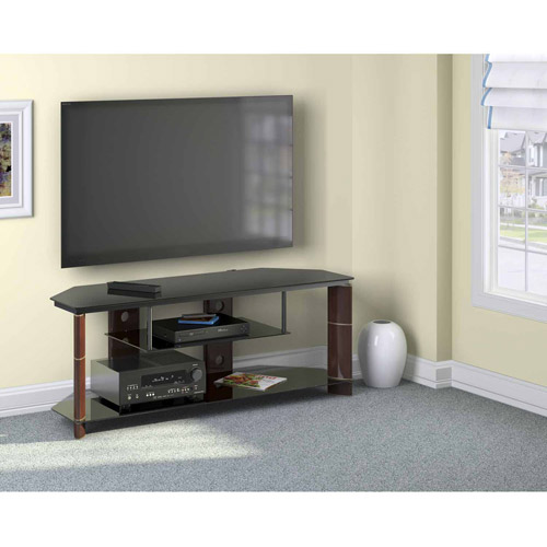 "Bush Furniture Segments Collection TV Stand, for TVs up to 60"", Prestige Cherry"