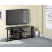 """Bush Furniture Segments Collection TV Stand, for TVs up to 60"""", Prestige Cherry"""