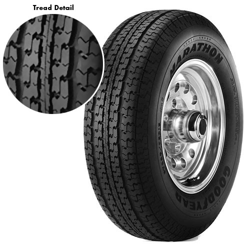 Goodyear Marathon Radial Trailer Tire ST205/75R15 6 Ply, Load Range C