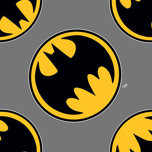 Batman Directional Flannel From 100% Cotton For Quilting And Crafting Officially Licensed From Dc Comics