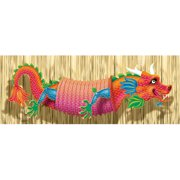 "Blessed Chinese New Year Accordion Paper Dragon Party Decoration (Pack of 1), Multicolor, 8 1/2"" x 29"""