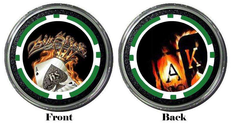 Card Cover Card Guard Big Slick ~ Ace King Protector Holdem Poker Chip