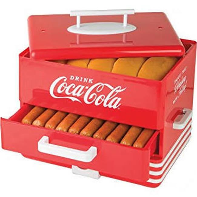Nostalgia HDS248COKE Large Coca-Cola® Hot Dog Steamer