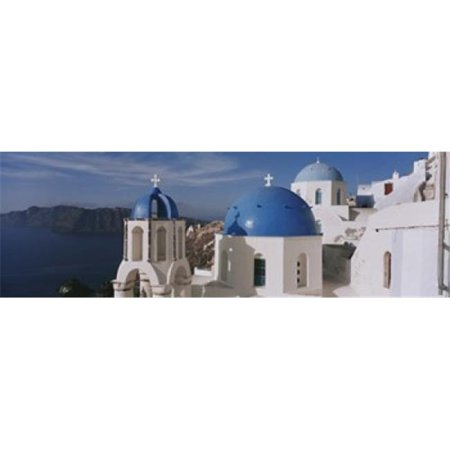High Angle View Of A Church  Church Of Anastasis  Fira  Santorini  Greece Poster Print by  - 36 x 12 - image 1 of 1