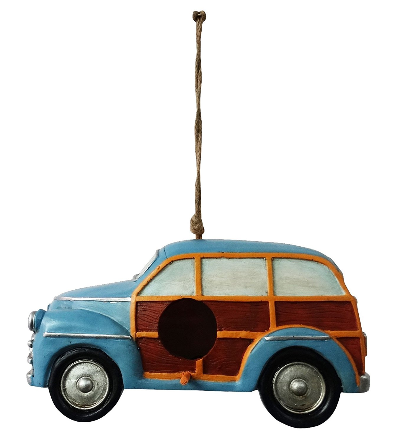 Hanging Blue Stationwagon Birdhouse by Alpine Corporation