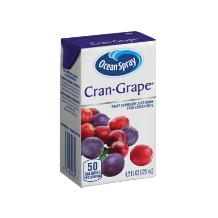 Ocean Spray Juice Drink, Cranberry Grape Juice, 4.23 Fl Oz, 40