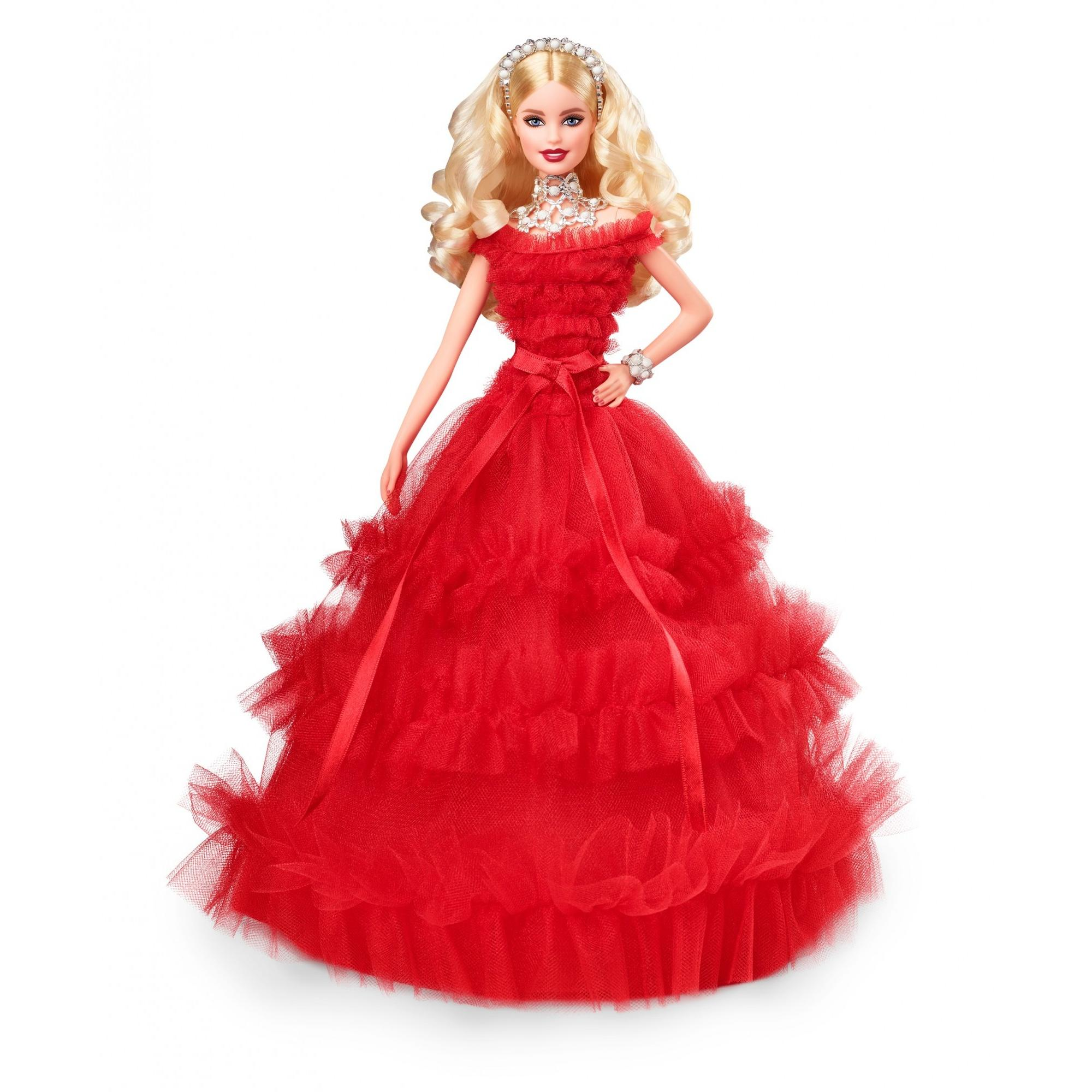 2018 Holiday Collector Barbie Signature Doll with Stand by Barbie