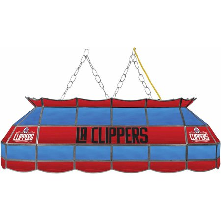 "Trademark Global NBA Los Angeles Clippers 40"" Stained Glass Billiard Table Light Fixture by"