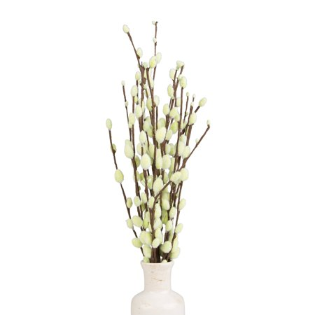 Decorative Branches, Pussy Willow Tree Branches (19 inches), Artificial Branches, Branches Decor - Light Green Pussy Decorative Willow Tree