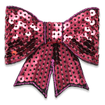 Expo Int'l Bow Dimensional Iron-on Sequin Applique