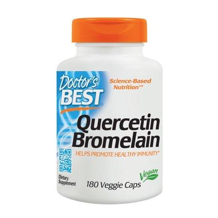 Doctor's Best Quercetin Bromelain, Non-GMO, Vegan, Gluten Free, Soy Free, Immune Support, 180 Veggie