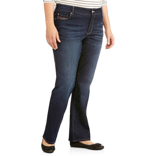 Faded Glory Women's Plus-Size Slim Boot cut Jeans - Walmart.com
