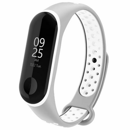 Adepoy for Xiaomi band 3 / mi band 4, waterproof silicone watch band for Xiaomi 3 / 4 Bracelet Woman Man