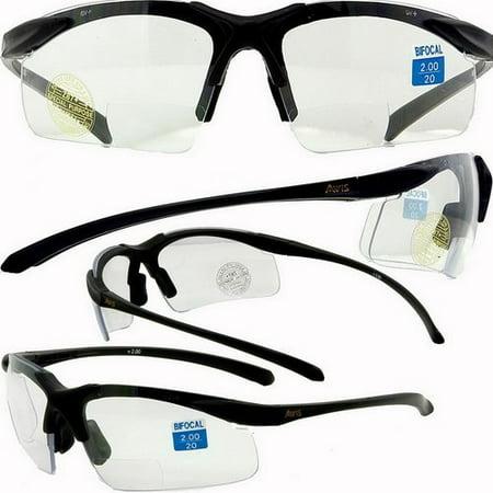 Apex clear bifocal safety glasses 2.0 (Safety Bifocals)