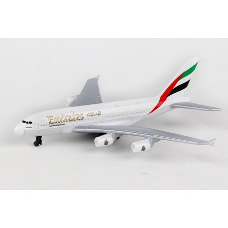 Model Plane (Emirates A380 Single Plane, White - Daron RT9904 - Diecast Model Airplane Replica)
