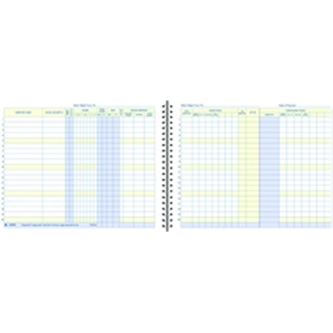 Adams AFR50 Weekly Payroll Record, Up to 20 Employees, Sp...
