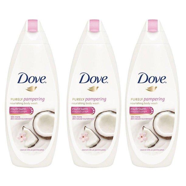 Dove Purely Pampering Coconut Milk With Jasmine Petals Body Wash 500ml 3 Pack International Version 16 9 Ounce Pack Of 3 Walmart Com Walmart Com
