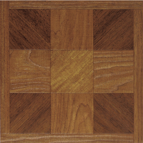 "Home Dynamix Madison Vinyl Tile Area Rugs - 20941  Woodtone Parquet Cross Rug - 12"" x 12"""