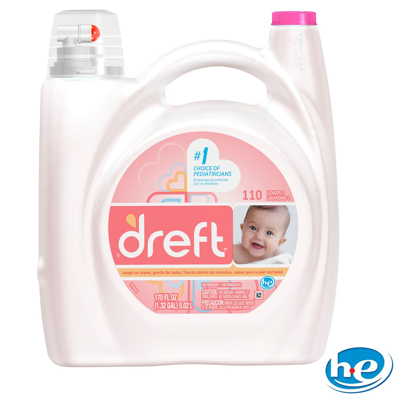 Dreft HE Liquid Laundry Detergent - 170 oz. - 110 loads