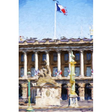 Paris Architecture IV - In the Style of Oil Painting Print Wall Art By Philippe