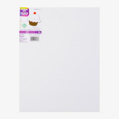 "Darice Foam 2 Millimeter 9"" x 12"" White Sheet, 1 Each"