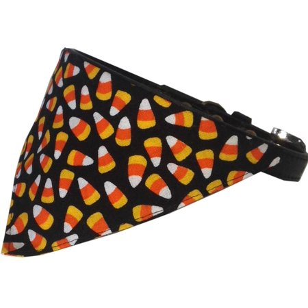 Candy Corn Bandana Pet Collar Black Size - Pet Candy