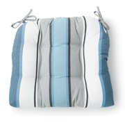 """Better Homes & Gardens 18"""" Striped Outdoor Wicker Seat Cushions"""