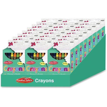 CLI, LEO42024ST, Creative Arts 24 Crayon Display, 24 / Display Box, Assorted