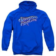 Jefferson Airplane Men's  Gradient Logo Hooded Sweatshirt Blue