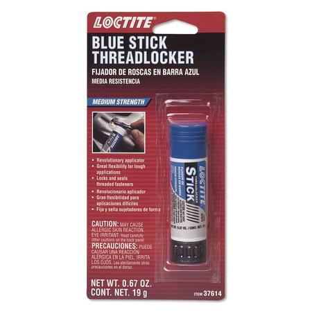 37614 Blue Medium Strength Threadlocker Stick, 19-gram, This medium strength anaerobic thread locker offers the same locking strength and.., By - Medium Strength Blue Threadlocker Stick