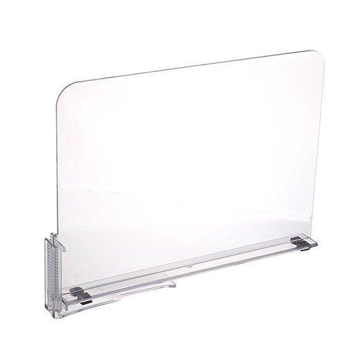 Rebrilliant Acrylic Shelf Dividers Closet Shelves Organizer Separator