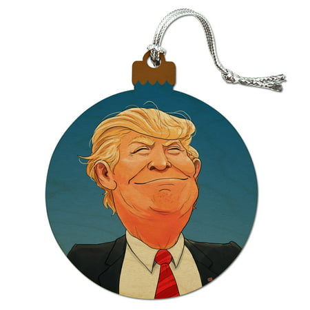 Happy Donald Trump Make America Great Wood Christmas Tree Holiday Ornament](Cuddles From Happy Tree Friends)