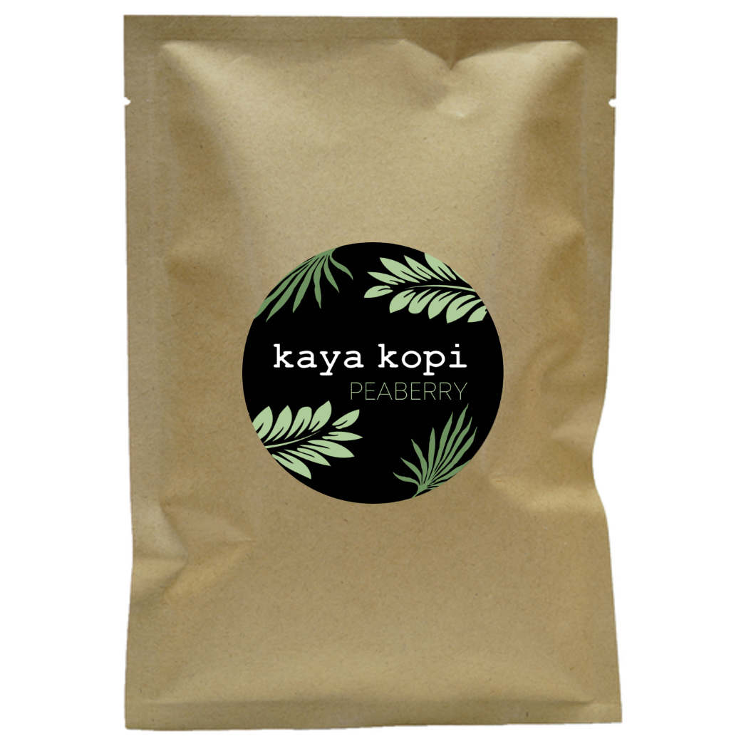 Premium Kaya Kopi Peaberry Blend From Vietnam, Indonesia, and Colombia - Floral Robusta Arabica Roasted Coffee Beans (50 Grams)