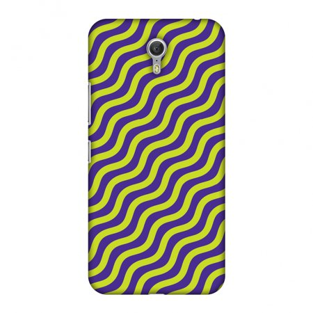 Lenovo ZUK Z1 Case - Waves, Hard Plastic Back Cover. Slim Profile Cute Printed Designer Snap on Case with Screen Cleaning Kit