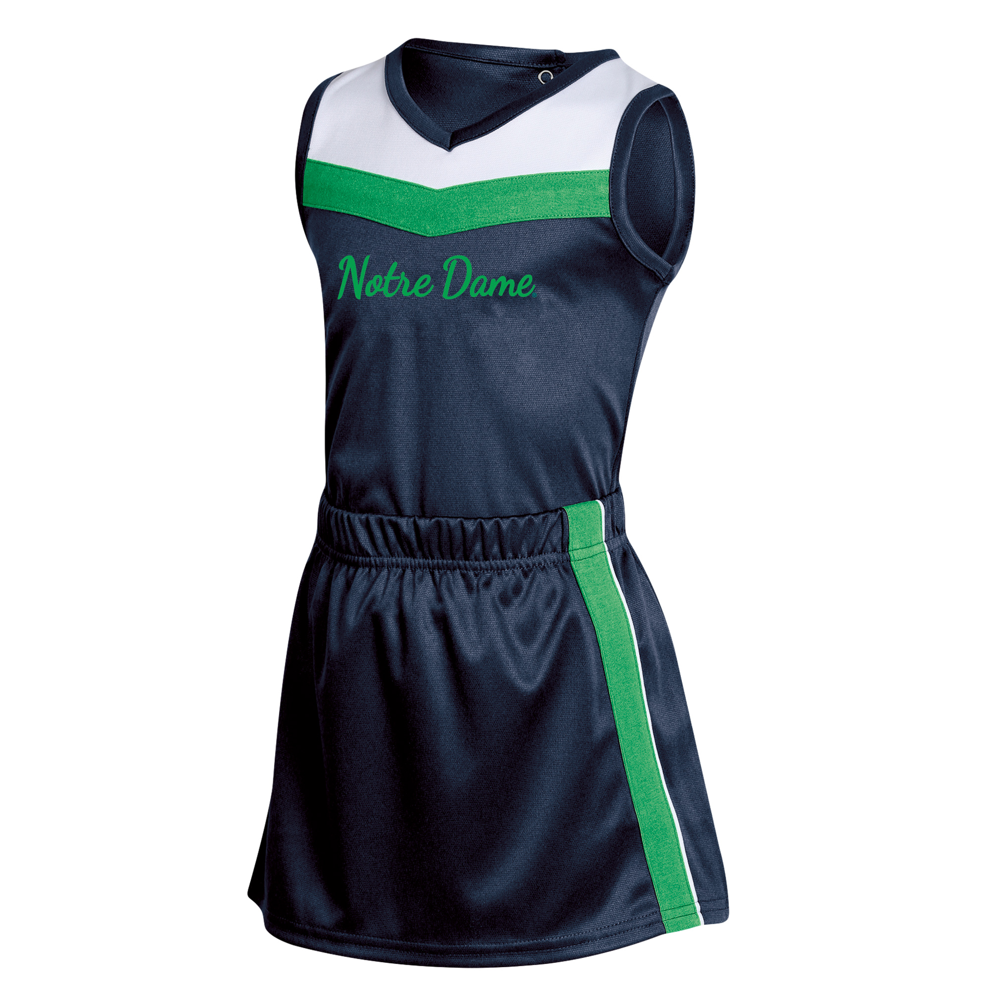 Girls Toddler Russell Navy Notre Dame Fighting Irish 3-Piece Cheer Set