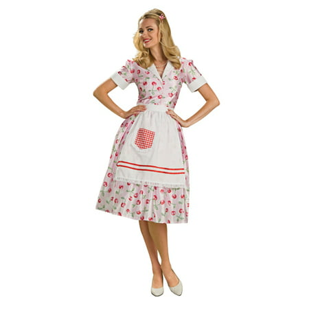 50's Adult Womens Housewife Halloween Costume](50's Halloween Costumes Adults)