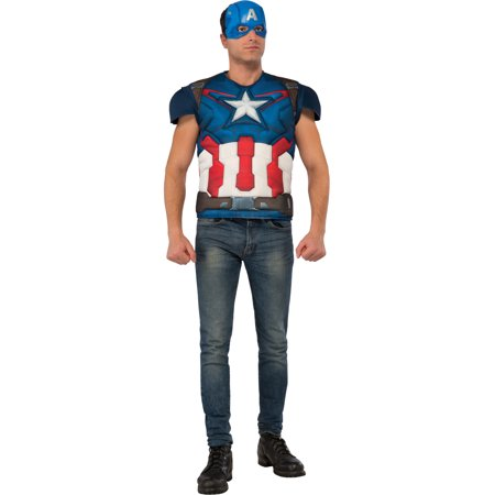 Men's Captain America Standard Avengers 2 Costume Size X-Large